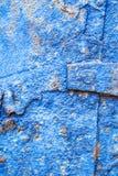 Старая голубая ржавая железная плита Стоковая Фотография RF