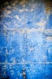 Старая голубая ржавая железная плита Стоковая Фотография