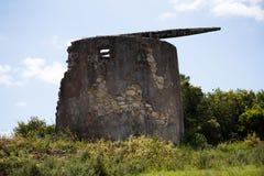 Старая гора ветрянки в Португалии Стоковое фото RF