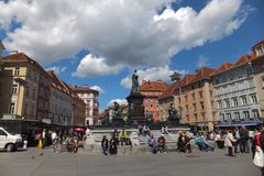 Старая городская площадь, Грац, Австрия стоковое фото