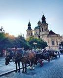 Старая городская площадь Прага стоковые изображения