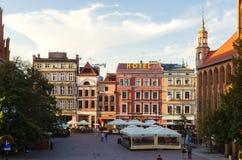 Старая городская площадь в Торуне, Польша стоковое изображение rf