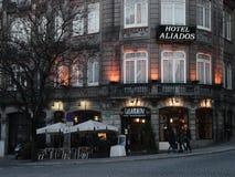 Старая гостиница Aliados Порту Стоковая Фотография RF