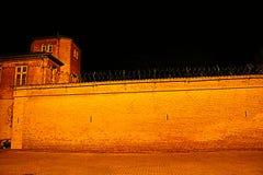 Старая государственная тюрьма Horsens на ноче Стоковая Фотография RF