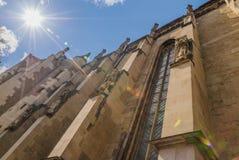 Старая готическая церковь стоковая фотография rf