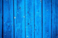 Старая голубая деревянная доска Красивейшая предпосылка Стоковые Фотографии RF