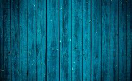 Старая голубая деревянная доска Красивейшая предпосылка Стоковые Изображения
