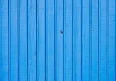 Старая голубая деревянная предпосылка планки Стоковое Изображение RF
