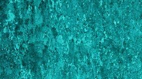 Старая голубая конкретная текстура, предпосылка стены Teal Стоковое Фото