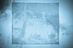 Старая голубая предпосылка стены стоковая фотография rf
