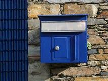 Старая голубая смертная казнь через повешение почтового ящика Стоковые Фото