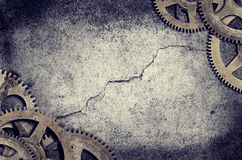 Старая граница Cogs часов стоковое изображение