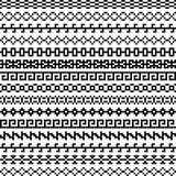 Старая греческая граница, племенная винтажная этническая безшовная картина, азиатские орнаменты решетки, китайцы, японцы, корейск иллюстрация вектора