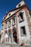 Старая греческая церковь и новая мечеть в Talas, Kayseri. Стоковые Фотографии RF