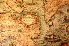 Старая глобальная карта Стоковые Фотографии RF