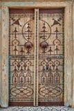 Старая дверь в арабском стиле Стоковая Фотография