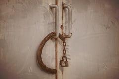Старая дверь замка Стоковое Изображение