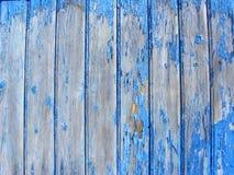 Старая деревенская голубая деревянная стена стоковое фото