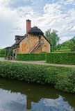 Старая деревня Мари Antoinette на дворце Версаль Парижа Стоковые Фотографии RF