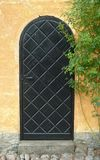Старая деревянная дверь установила в тосканскую виллу Стоковые Фотографии RF