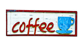 Старая деревянная доска чашки кофе Стоковые Изображения
