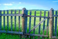 Старая деревянная загородка покрытая с лишайником Естественная текстура деревянной загородки с лишайником Естественная предпосылк стоковое фото