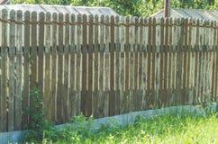 Старая деревянная загородка, предпосылка Стоковое Изображение