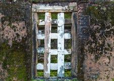 Старая деревянная коричневая текстура древесины двери дома панели предпосылки старые Стоковое Изображение RF