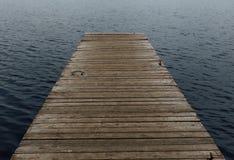 Старая деревянная мола на озере Стоковое фото RF
