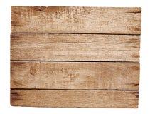 Старая деревянная плита изолировала Стоковое Фото
