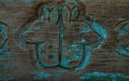 Старая деревянная предпосылка с картиной Стоковое Фото