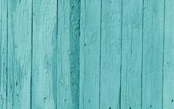 Старая деревянная стена в cyan цвете стоковое фото