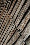 Старая деревянная стена stip стоковая фотография rf