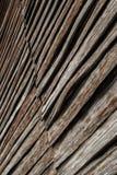 Старая деревянная стена stip стоковые фотографии rf
