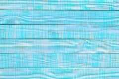 Старая деревянная текстура покрашенная в цвете teal или бирюзы Свет - синь Стоковые Фото