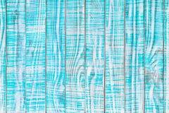 Старая деревянная текстура покрашенная в цвете teal или бирюзы Свет - синь Стоковое Изображение