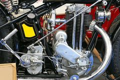 Старая деталь двигателя мотоцикла Стоковое фото RF