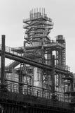 Старая доменная печь фабрики Стоковое Изображение