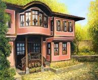 Старая дом в Koprivshtica Стоковое Изображение RF