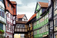 Старая дом Fachwerk в Wolfenbuttel. Стоковая Фотография