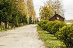 Старая дорога среди стоковые фотографии rf