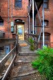 Старая дорожка к историческому зданию в Prescott Аризоне стоковое изображение