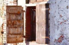 старая древесина окна Стоковое Изображение