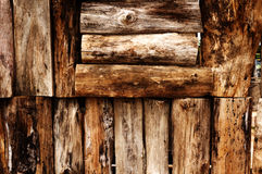 старая древесина стены стоковая фотография