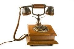 старая древесина телефона Стоковая Фотография