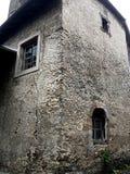 Старая европейская башня угла дома фермы стоковое изображение rf