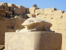 Старая египетская скульптура scarabus висков Стоковые Фотографии RF