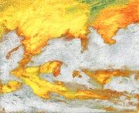 Старая декоративная карта нарисованная на холсте Стоковая Фотография RF