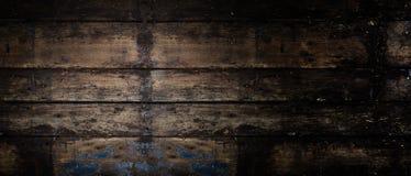 Старая деревенская деревянная панорамная предпосылка знамени Стоковые Фото