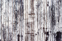 Старая деревенская деревянная покрашенная стена планки белой Стоковые Фото